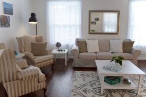 Wing back chairs for your reading pleasure - Upper Suite Serenity, Port Franks Getaway, Ontario