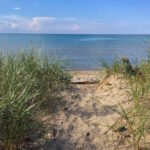 Little Sand Path to the Beach of Lake Huron in Port Franks, Ontario, Canada - secret spots
