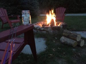 Fire Pit Nights at Port Franks Getaway - Roasting Marshmallows and watching the stars