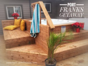 Port Franks Getaway outdoor Hot Tub - Open year round to our guests