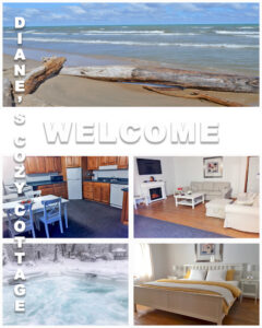 Welcome to Diane's Cozy Cottage; weekly vacation rentals near the shores of Lake Huron and Grand Bend. Beach, hiking, spa, 4 seasons, adults only getaway in Port Franks, Ontario