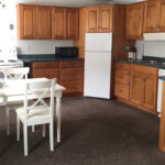 Full Kitchen with dishwasher, cook range, microwave, coffee maker, tea kettle, crock pot, dishes, pots & pans... - Diane's Cozy Cottage at adults only Port Franks Getaway in Ontario, Canada